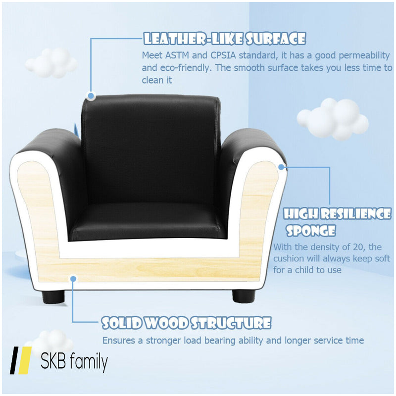 Kids Single Armrest Couch Sofa With Ottoman 200815-22125