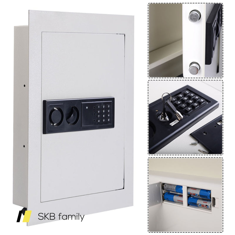 Digital Flat Recessed Wall Safe Security Lock Gun Cash Box 200815-22150