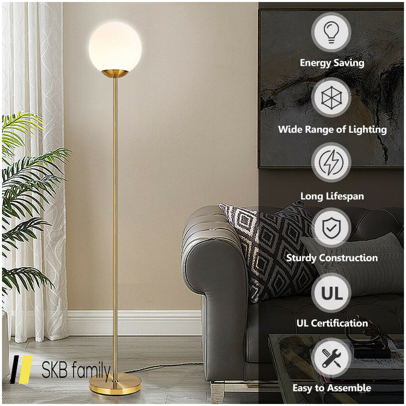 "67"" Frosted Glass Globe Floor Lamp 9w Led Bulb 200815-22160"