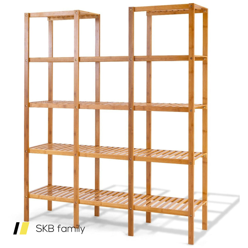 Multifunctional Bamboo Shelf Flower Plant Display Stand 200815-22164