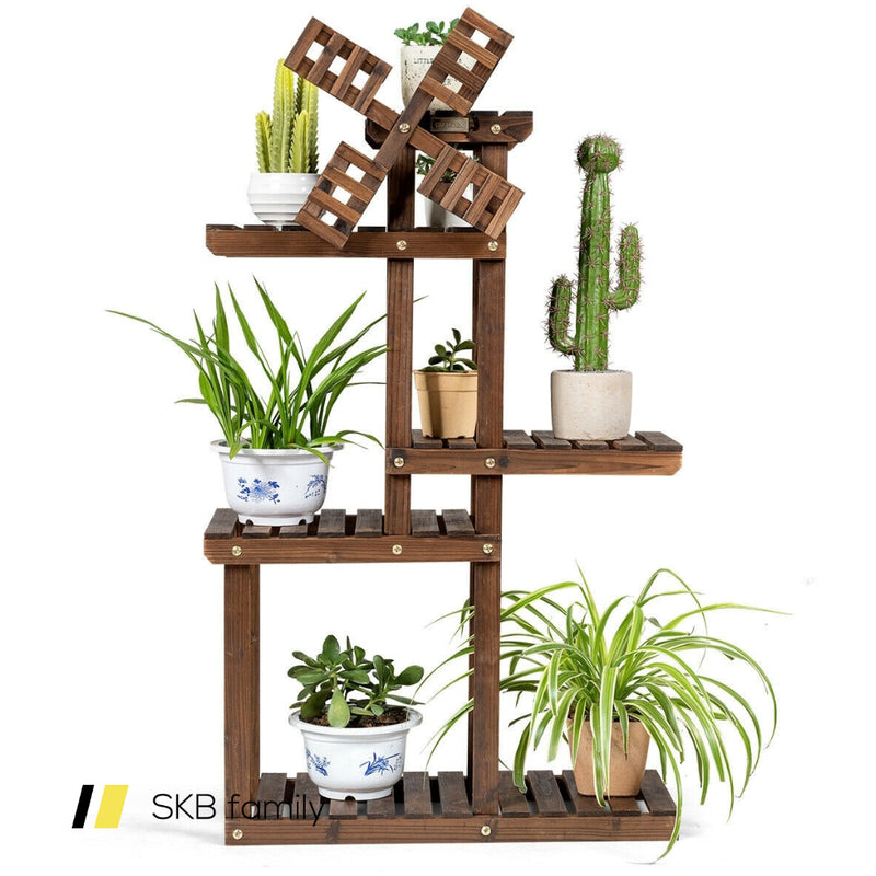 Wood Plant Stand 5 Tier Shelf Multiple Space-Saving Rack 200815-22178