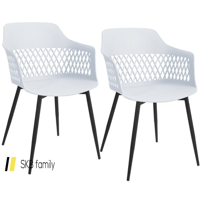 Set Of 2 Modern Hollow Back Dining Chair 200815-22180