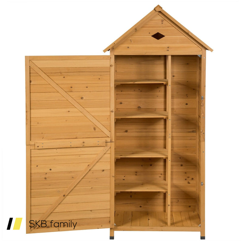 Wooden Outdoor Lockable Garden Tool Storage 200815-22183