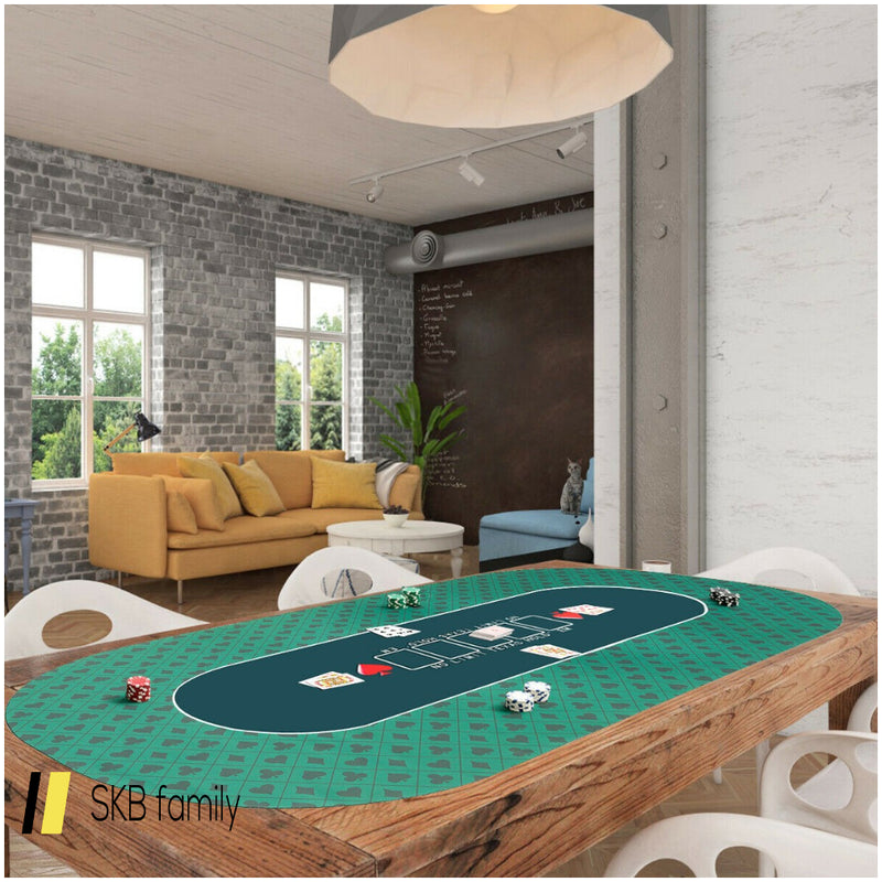 "71"" X 36"" Portable Poker Table Top With Carrying Bag 200815-22194"