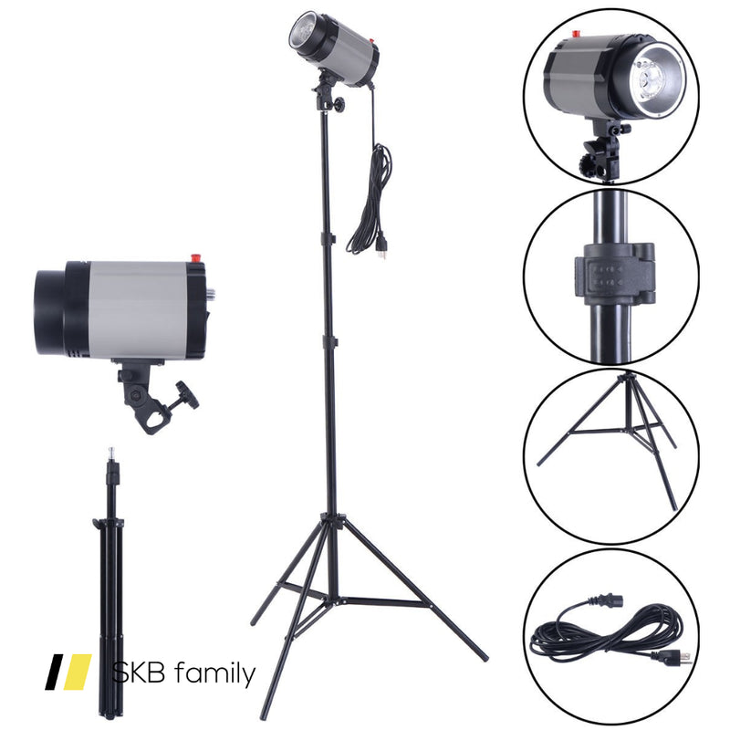 2 X 160w Flash Lamp Holder Set With Light Stand 200815-22225