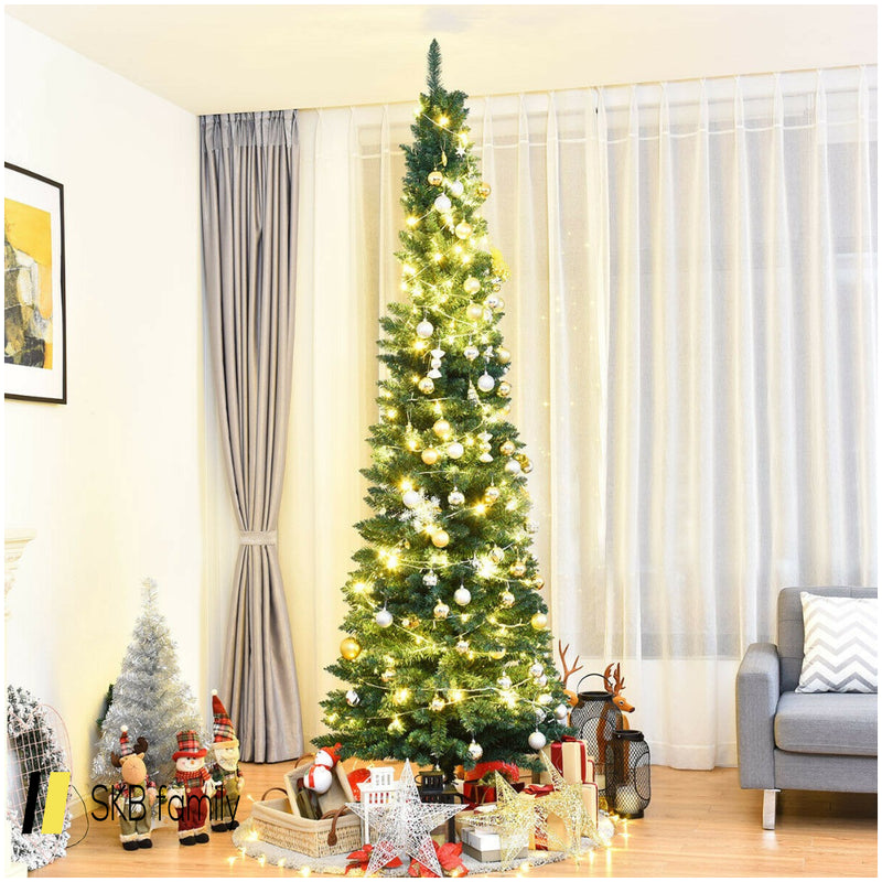 6' / 7' / 8' / 9' Pvc Artificial Slim Pencil Christmas Tree 200815-22252