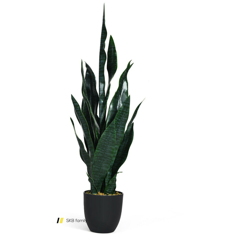 "35.5"" Indoor-Outdoor Artificial Fake Snake Plant 200815-22258"