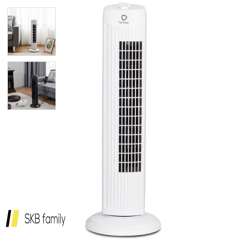 "Fantask 35w 28"" Quiet Bladeless Oscillating Tower Fan 200815-22266"