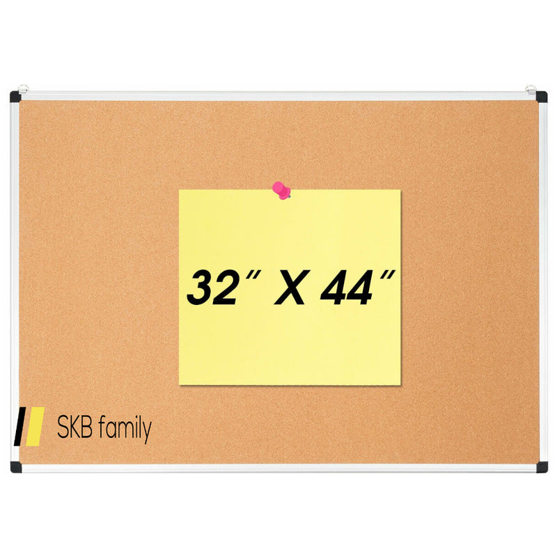 "44"" X 32"" Cork Notice Pin Board With Aluminum Frame 200815-22279"