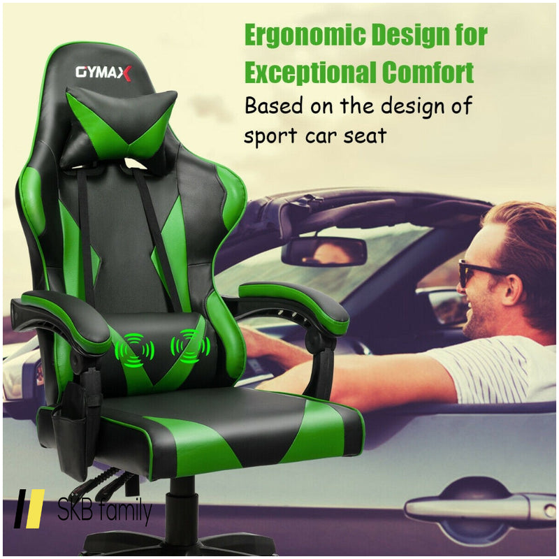 Gaming Chair Reclining Swivel With Massage Lumbar Support 200815-22280