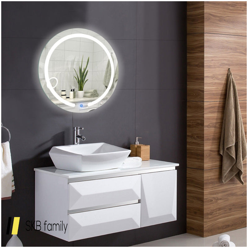 "20"" Led Touch Button Wall Mount Bathroom Round Mirror 200815-22283"