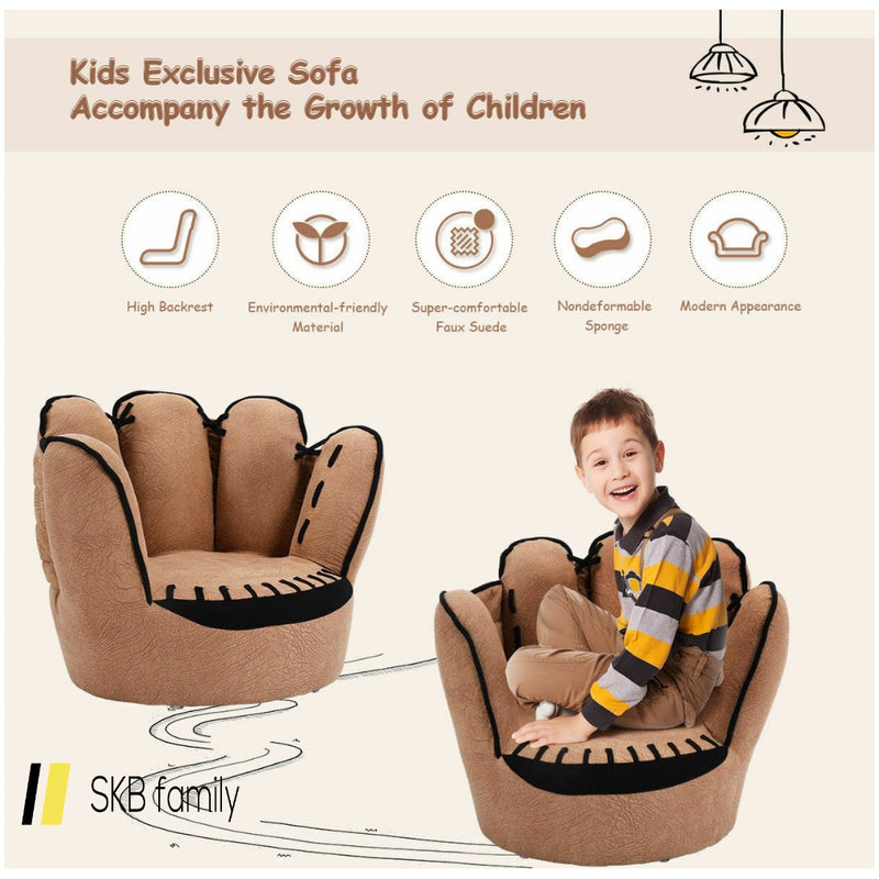 Five Fingers Baseball Glove Shaped Kids Sofa 200815-22286