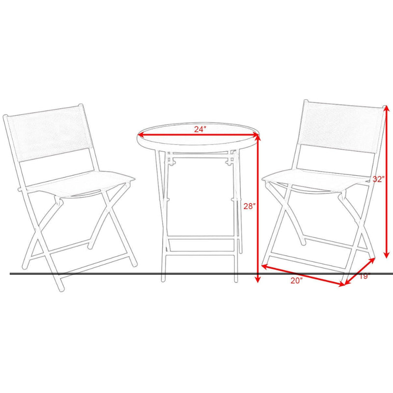 3 Pcs Folding Garden Patio Table Chairs Set 200815-22311