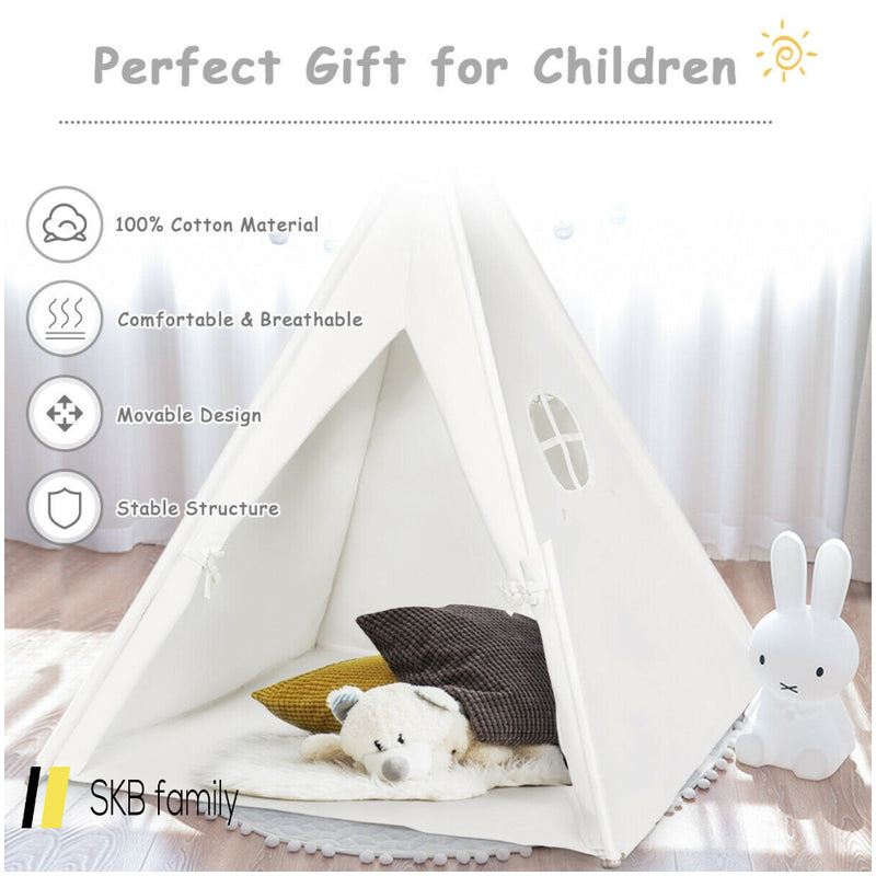 5.5 Ft Portable Cotton Kids' Play Tent 200815-22319
