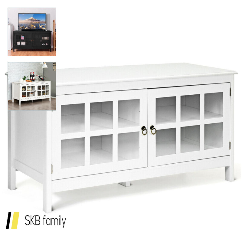 "50"" Tv Stand Modern Wood Storage Console With 2 Doors 200815-22323"