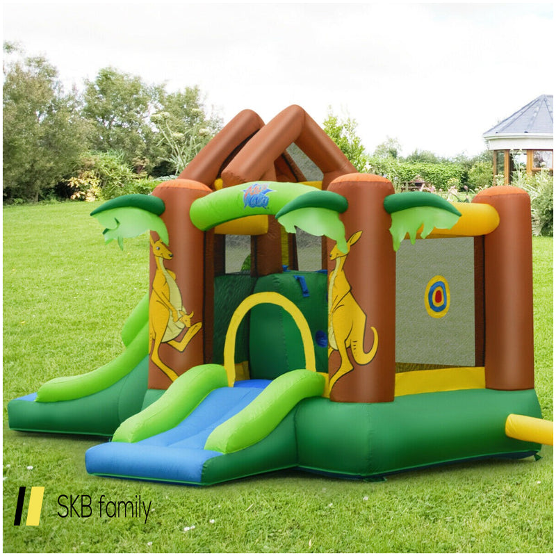 Kids Inflatable Jungle Bounce House Castle With Blower 200815-22328