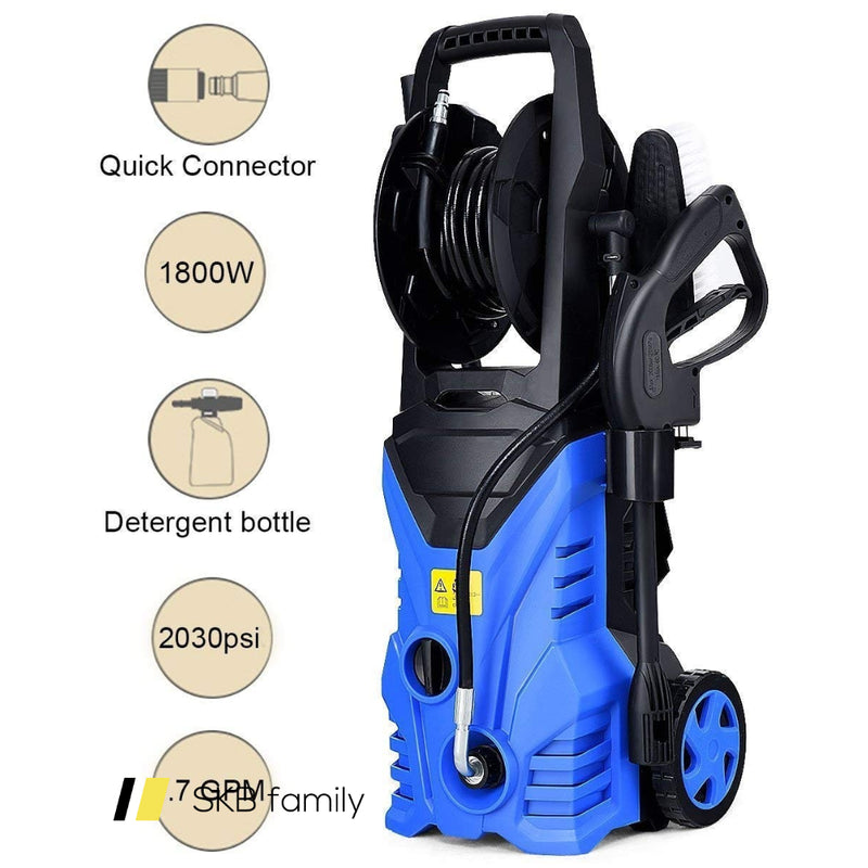 1800w 2030psi Electric Pressure Washer Cleaner With Hose Reel 200815-22332