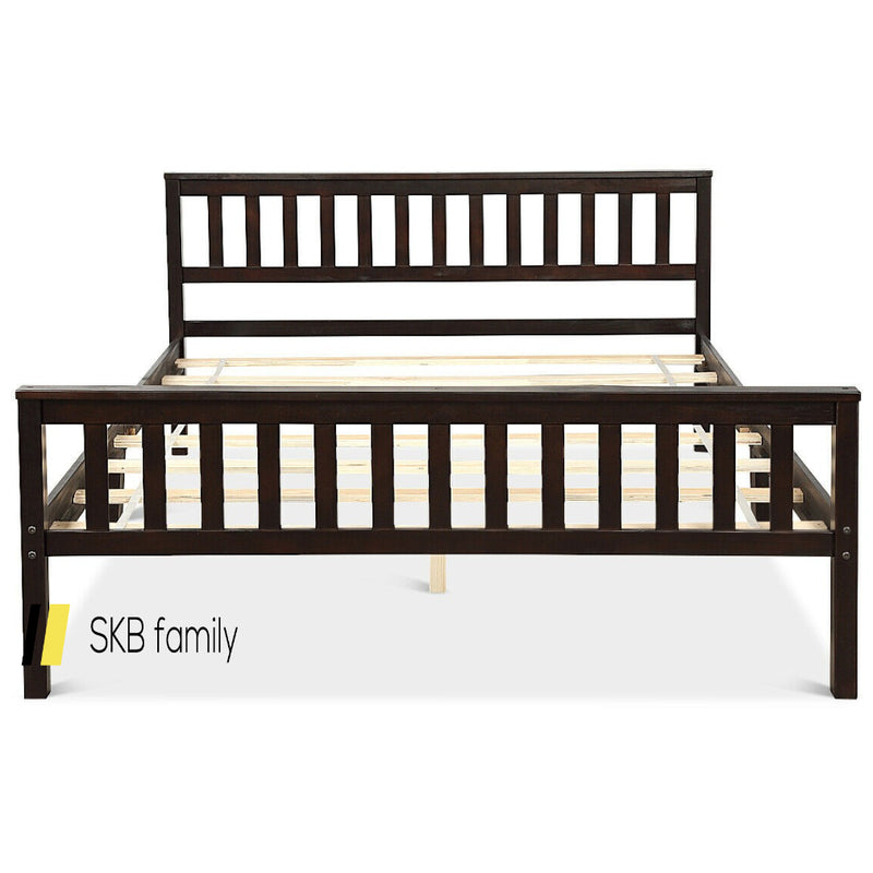 Wood Bed Frame Support Platform With Headboard And Footboard 200815-22356