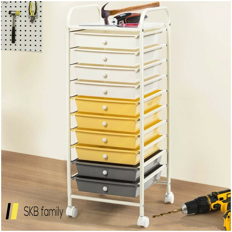 10 Drawer Rolling Storage Cart Organizer 200815-22368