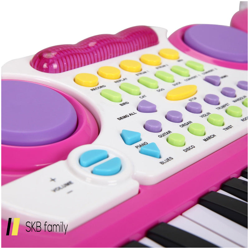Kid'S 37-Key Electronic Piano Keyboard With Microphone 200815-22389
