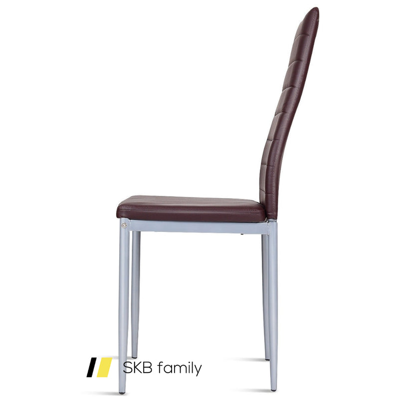 4 Pcs Pvc Leather Elegant Design Dining Side Chairs 200815-22472
