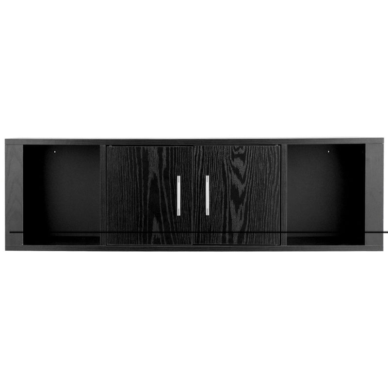 Wall Mounted Floating 2 Door Desk Hutch Storage Shelves 200815-22528