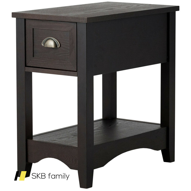 Contemporary Chair Side End Table Compact Table With Drawer Nightstand 200815-22666