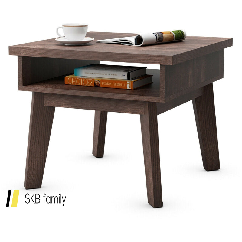 2-Tier Nightstand Space-Saving Side Sofa End Table 200815-22681