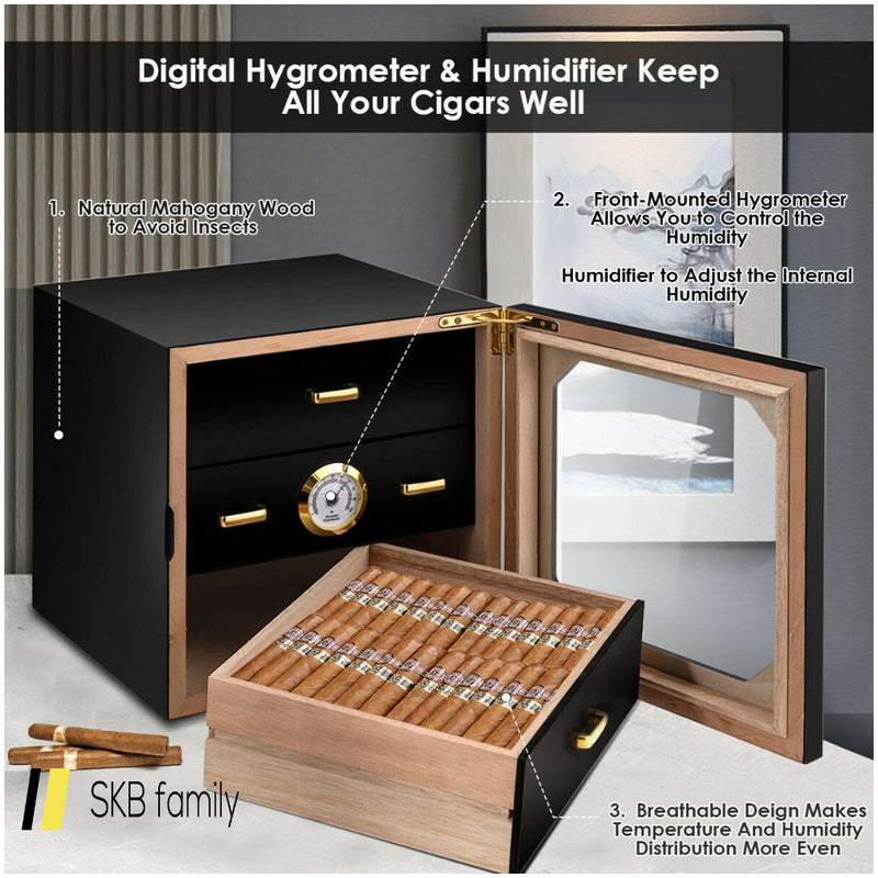 80 Cigar Humidor Desktop Cigar Box 200815-22692