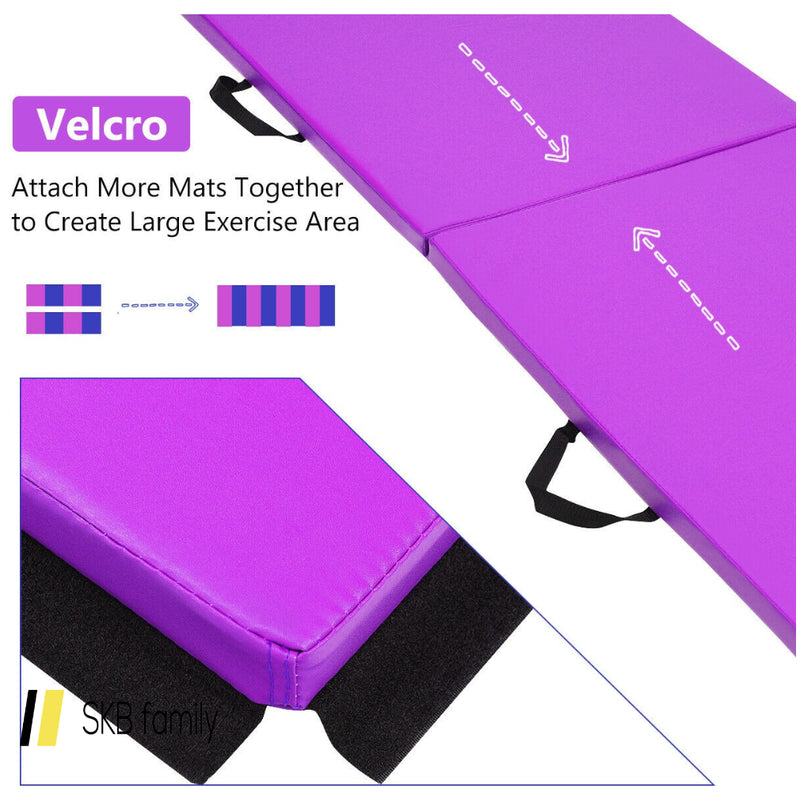 "6' X 24"" X 1.5"" Thick Two Folding Panel Gymnastics Mat 200815-22705"