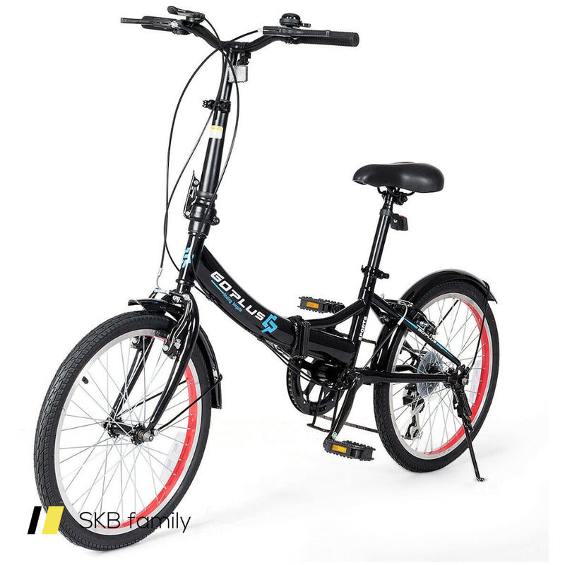 "20"" Lightweight Adult Folding Bicycle Bike With 7-Speed Drivetrain Dual V-Brakes 200815-22708"