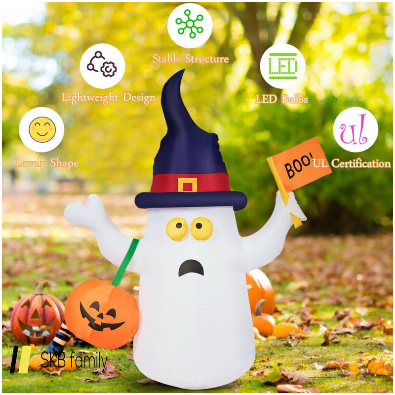 5' Halloween Inflatable Ghost Light With Flag Hat Bag 200815-22710