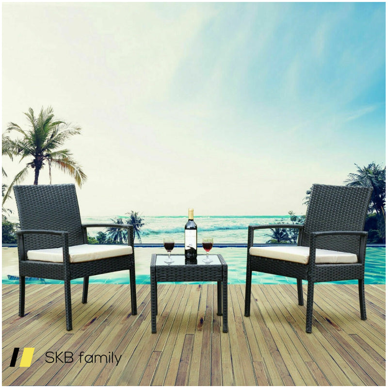 3 Pcs Outdoor Rattan Patio Furniture Set 200815-22712