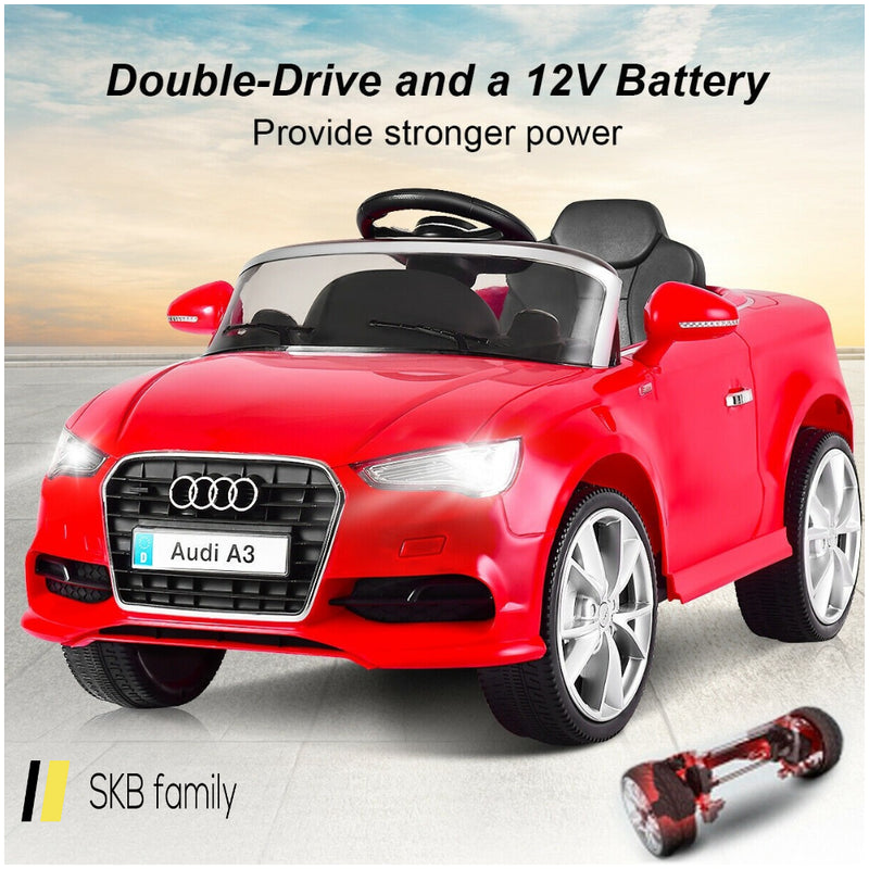 12 V Audi A3 Kids Ride On Car With Rc + Led Light + Music 200815-22736