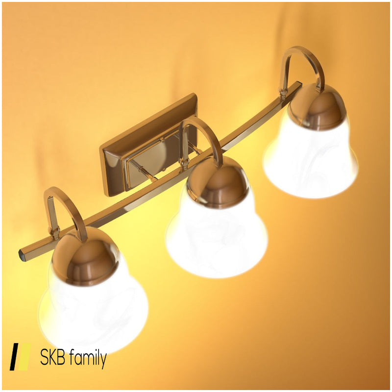 3-Light Led Bath Vanity Light With Alabaster Glass Dimmable 200815-22774