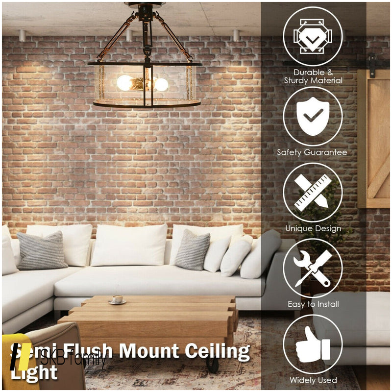 3-Light Flush Mount Ceiling Light 200815-22806