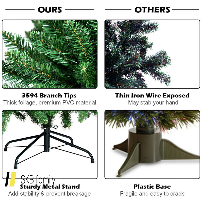 9 Ft Hinged Artificial Christmas Tree With Solid Metal Stand 200815-22814