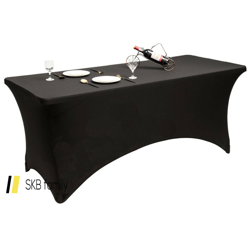 2 Pcs 6 Ft Rectangular Spandex Tablecloth Fitted Wedding 200815-22816