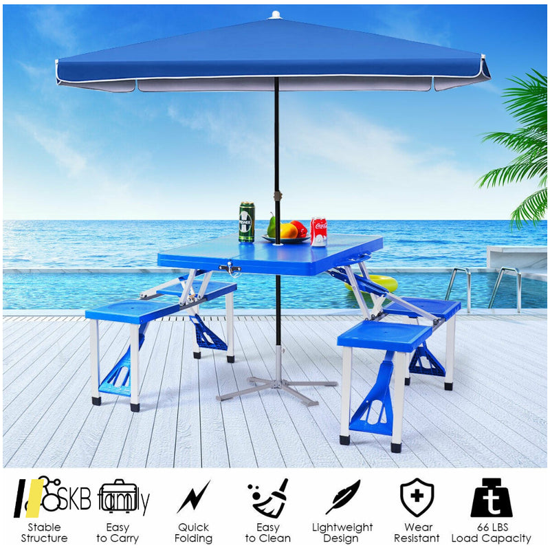 Outdoor Folding Camping Table And Bench Set 200815-22832