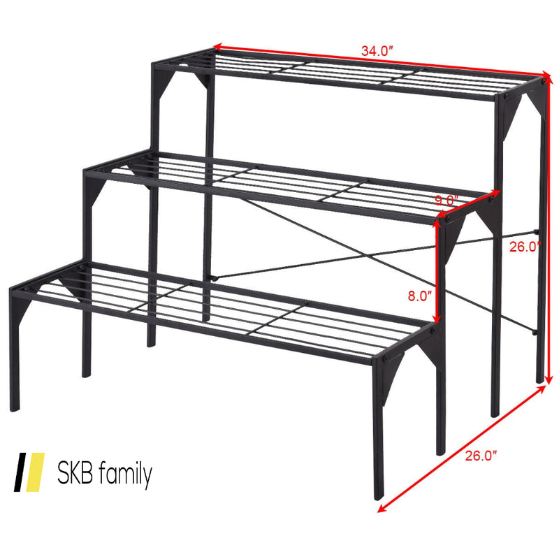3 Tier Heavy Duty Modern Plant Display Stand Rack 200815-22882