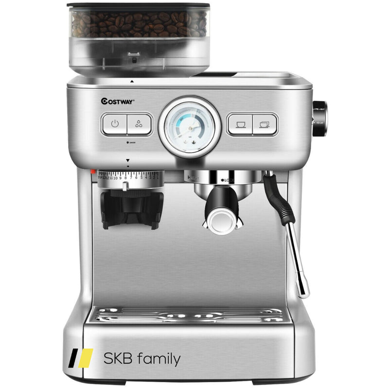 15 Bar Espresso Coffee Maker 2 Cup /W Built-In Steamer Frother And Bean Grinder 200815-22911