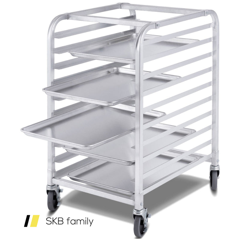10 Sheet Aluminum Rolling Bakery Pan Rack 200815-22913