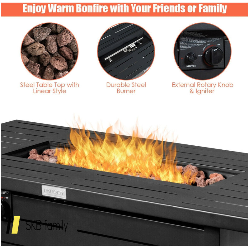 "42"" 60,000 Btu Rectangular Propane Gas Fire With Cover 200815-22930"
