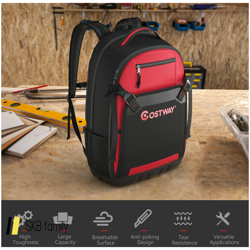 Tool Backpack Heavy Duty Jobsite Tool Bag 26 Pockets 200815-22948