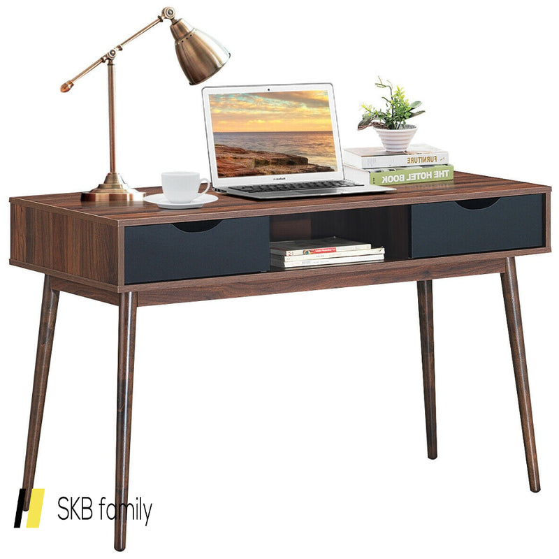 Computer Desk Pc Laptop Writing Table With Drawers & Shelf 200815-22953