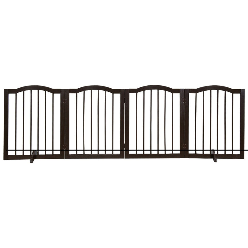 "24"" 4-Panel Wooden Folding Pet Gate 200815-22987"