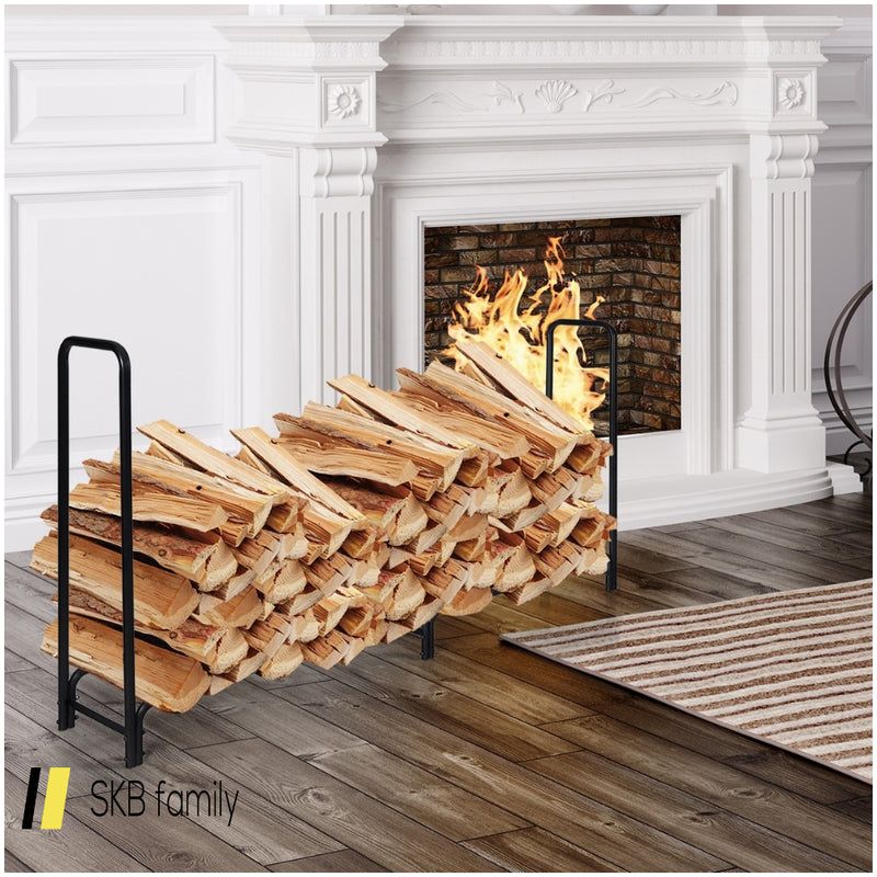 8 Feet Outdoor Steel Firewood Log Rack 200815-23000