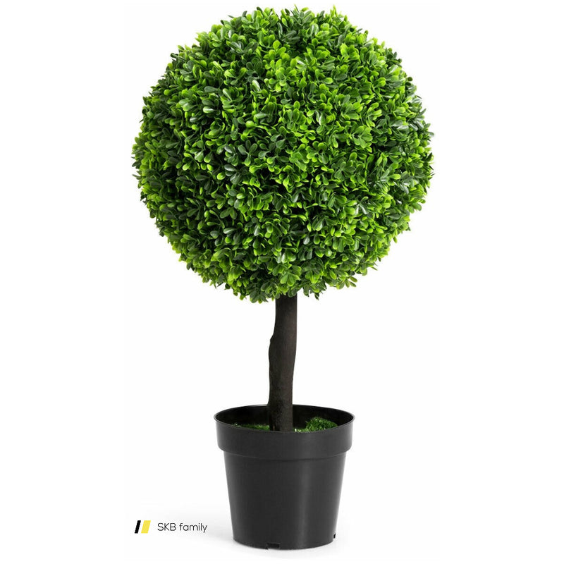 "24"" Artificial Boxwood Topiary Decorative Ball Tree 200815-23007"