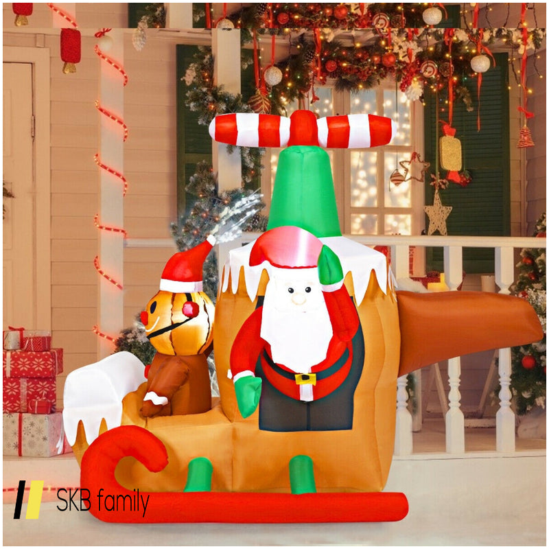 6ft Long Inflatable Santa Claus Flying Airplane 200815-23012