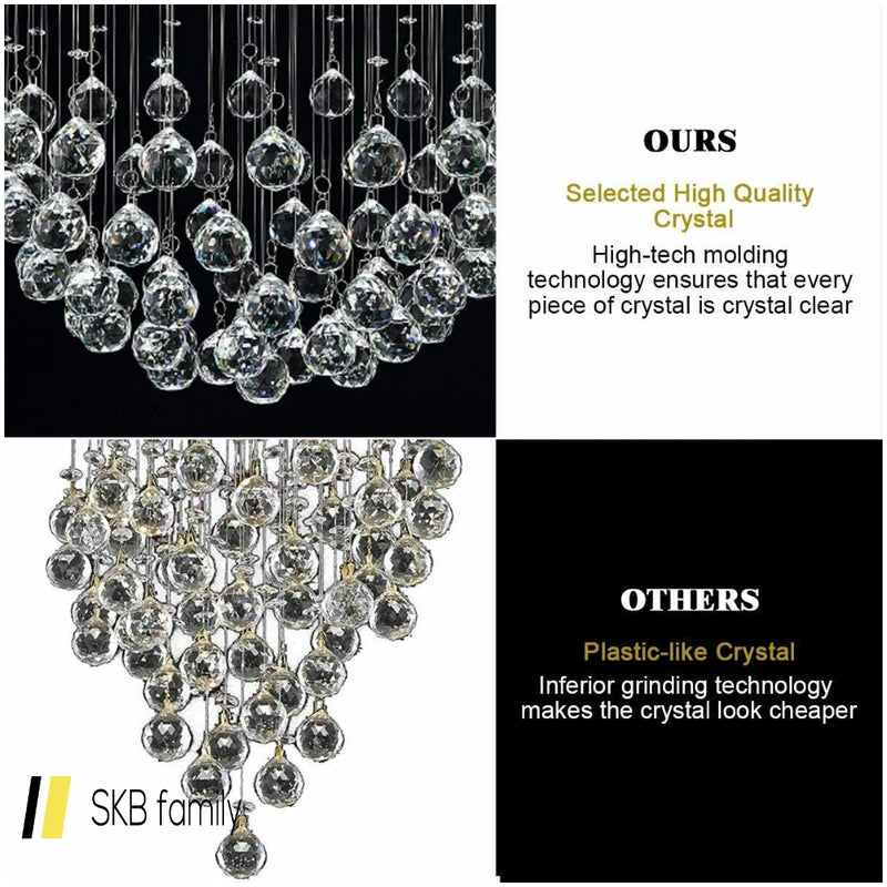 Mount Modern Crystal Chandelier With Crystal Balls 200815-23016